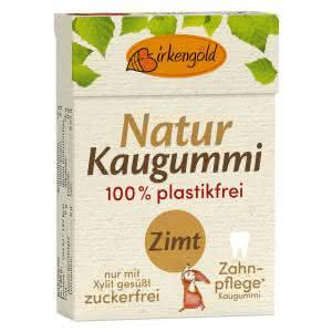 Natur Kaugummi Zimt Birkengold mit Xylit
