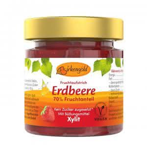 Produkt Erdbeer Marmelade mit Xylit 200 g Birkenzucker ohne Zucker