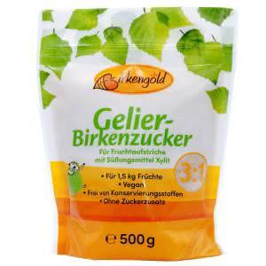 Gelier-Birkenzucker Xylit 500 g zuckerfrei