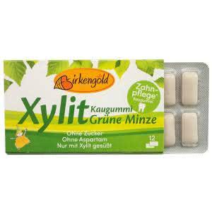 Produkt Xylit Kaugummi Grüne Minze Birkengold