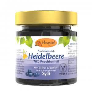 Produkt Heidelbeer Marmelade mit Xylit 200 g Birkenzucker ohne Zucker