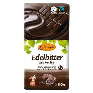 Xylit Schokolade Edelbitter 100 g zuckerfrei vegan