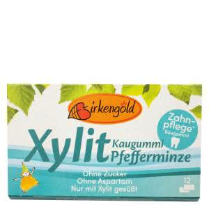 Xylit Kaugummi Pfefferminze Birkengold