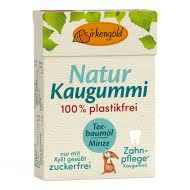 Natur Kaugummi Teebaumöl Minze plastikfrei
