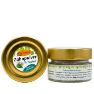 Zahnpulver Kräuter 30 g im Glas (plastikfrei)