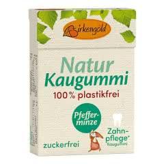 Produkt Natur Kaugummi Grüne Minze Birkengold