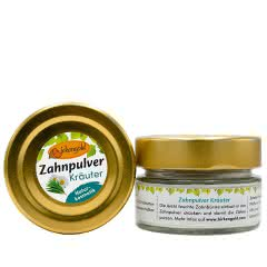 Zahnpulver Kräuter 30 g Glas