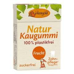 Produkt Natur Kaugummi mit Xylit Frucht Birkengold