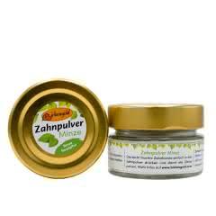 Zahnpulver Minze 30 g Glas