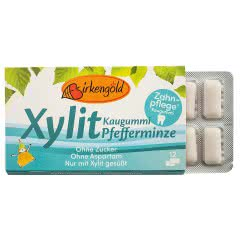 Produkt Xylit Kaugummi Pfefferminze Birkengold